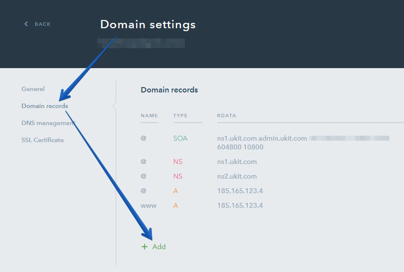 How Do I Manage My Domain Records - uKit Knowledge Base