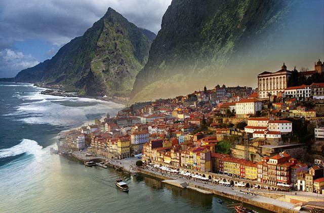 Фото с воздуха Мадейра
