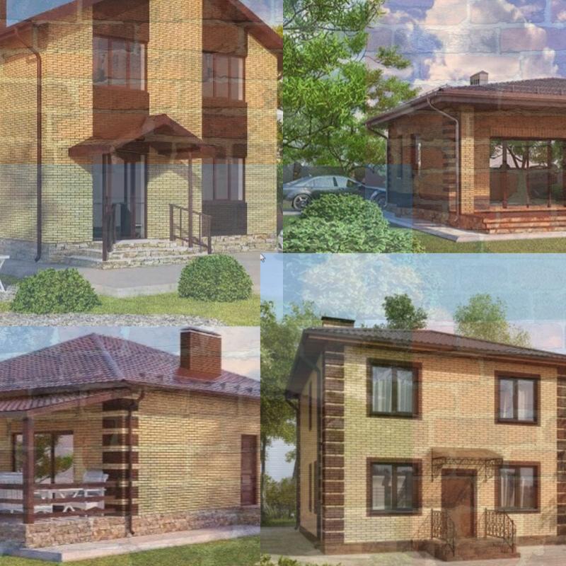 Описание: Дома бывают разные одноэтажные и двухэтажные☺